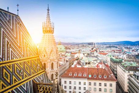 Ausblick auf Wien vom Wiener Stephansdom